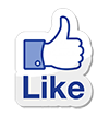 Facebook Like symbol trans 100px